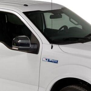 New England Patriots NFL 2 Pack Aluminum Emblem Car Truck Edition Decal Sticker