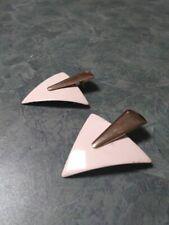Retro Mod Funky Geometric Earrings 1980's