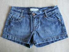 MAURICES Jr Womens Sz 1/2 Denim Jean Short Shorts Distress Faded 100% Cotton EUC