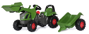 FENDT TRACTOR WITH FRONT END LOADER WITH TRAILER