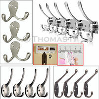 4/5/10 Hooks Metal Chrome Double Hat Coat Clthes Door Hook Holder Wall Hangers