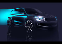 2016 SKODA VISIONS CONCEPT NEW A1 CANVAS GICLEE ART PRINT POSTER