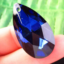 38x22x12mm facettiert blau TITAN Kristall Teardrop Pendant Bead h46382