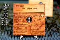 "Oregon Trail Wooden Art Sculpture 5.25"" Floppy Disk Apple II Commodore 64 Amiga"