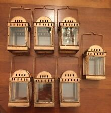 "Lot 7 Copper 9"" Small Lantern Candle Holder. Outdoor Lighting/Table Setting."