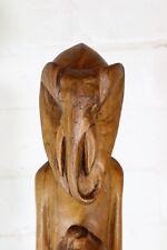 Large 47cm Vintage Antique Carved African Elephant God Deity Figure West Africa
