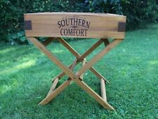 Southern Comfort - Handmade Solid Wood Rustic Butlers Tray + 2 On Stand vgc