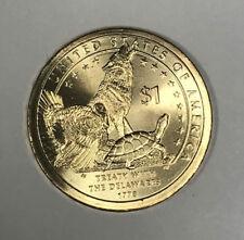 2013-P Sacagawea Native American Delaware Treaty Dollar w/ Wolf, Turkey, Turtle