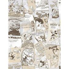 Disney Mickey Minnie Pato Donald Comic Cover Childrens Wallpaper Amarillo Color Beige