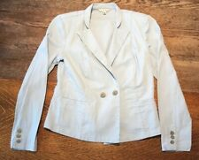 CABI Light Blue Wedgewood Nautical Jacket Blazer Size 6 Career Wear Work