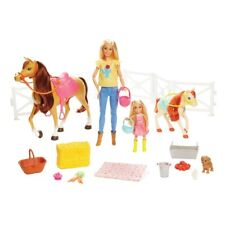 Barbie And Chelsea Hugs'n'Horses Playset 15 Pieces NEW