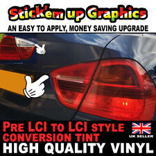 2x BMW E90 LCI Style Rear Red Reverse light upgrade 2005-2009 mod overlay