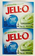 2X Sugar Free Jell-O Instant Pistachio Pudding Pie Filling Mix 1oz Seasonal