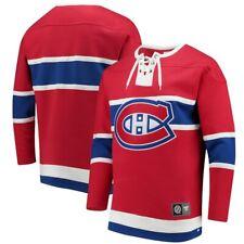 MONTREAL CANADIENS FANATICS NHL Breakaway Lace-Up Sweatshirt Men's Large NWT