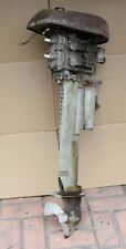Antique boat motor collectible outboard 2 cylinder unmarked early barn find