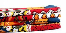 """Indian Pure Cotton Material Red Ikat Print  Fabric By The 10 Metre 44"""" Wide"""