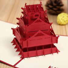 3D kumamoto castle greeting card,Japan theme pop-up card,Nippon Tourism souvenir