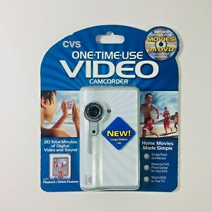 (2) Disposable Video Camcorder Camera One Time Use CVS Home Movies New Sealed