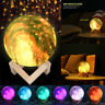 3D USB LED Magical Moon Lamp Night Light Moonlight Table Touch Switch Home Decor