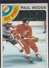 1978-79 TOPPS HOCKEY PAUL WOODS #159 RED WINGS MINT *54819
