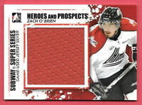 2011-12 Zach O'Brien ITG In The Game Heroes & Prospects Rookie Jersey /30