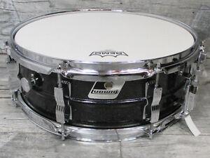 "Ludwig Black Acrolite 14"" x 5"" Snare Vintage Drums Made in USA  •SAMMLERZUSTAND•"