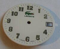 Ziffernblatt Uhrenhandel für Uhren LACOSTE Bahnsteigsperre Schweizer Made Weiß