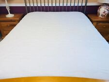 Queen  size Floral Quilt/ White on white  #8017