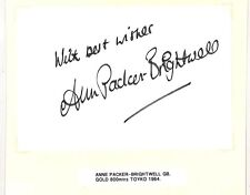 HH113 1964 TOKYO OLYMPICS Gold 800m Autograph *Anne Packer Brightwell* Card PTS
