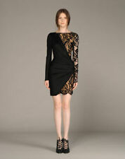 80% OFF: Emilio Pucci Black Lace Insert Jersey Draped Dress IT38/UK6-8 £1900