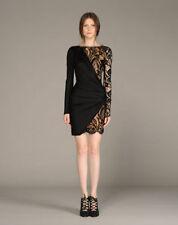 80% OFF: Emilio Pucci Black Lace Insert Jersey Draped Dress IT38/UK6-8 £1900