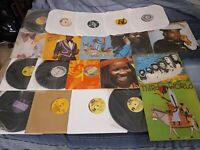 "Reggae Vinyl LP Lot + 4 12"" Singles"