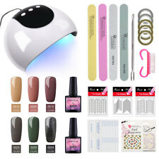 UV/LED Nail Gel Polish Soak off Gel Varnish with Lamp Manicure Set Starter Kit