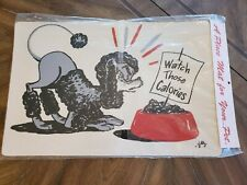 Vintage 1969 NEW Old Stock Black Poodle Place Mat for your Pet Gilly ARTIST