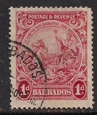 Barbados 1925 - 35 1d Scarlet used stamp SG 231 ( D178 )