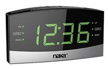 NAXA Electronics NRC-181 Bluetooth Easy-Read Dual Alarm Clock with Daily Repeat