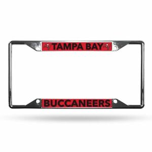 Tampa Bay Buccaneers Lightweight Chrome Metal License Plate Frame
