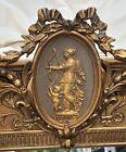 Antique Victorian Gold Mirror Venus Cupid Ornate Gesso Carved Wood Frame 31 X 44
