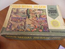 VINTAGE TOWER PRESS GOLD MEDAL 2000 JIGSAW PUZZLE - AN ENGLISH GARDEN