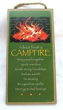 """""""Advice from a CAMPFIRE""""  Wooden Sign   5"""" x 10"""""""