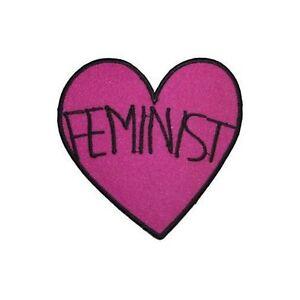 Feministe à Repasser Patch Cœur Féminisme Girl Power Transfert Applique Clothing