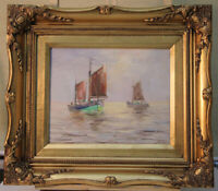 Fred MÖLLER Hamburg Ölgemälde Segelboote gelistet