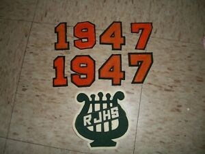 1947 Varsity numbers and RJHS Patch Jacket Sports Towle High school Newport NH