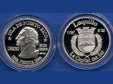 Silver PESETA LUQUILLO  2009 Puerto Rico Boricua Quarter 1/100 Plata