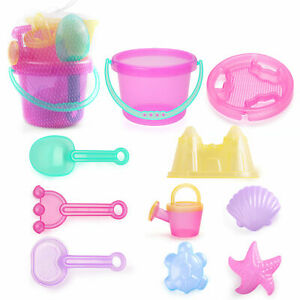 BenBen Kids Beach Sand Toys for Toddlers Bucket Shell Castle Mold Watering Can