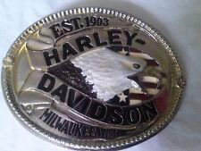 "New Vtg. Harley Davidson Raintree Belt Buckle ""Est. 1903 Milwaukee, Wisc."""