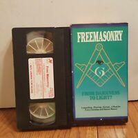 Freemasonry VHS *From Darkness to Light* Pro-Mason History Conspiracy