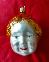 VINTAGE OLD WORLD CHRISTMAS ORNIMENT - ANGEL/CHERUB HEAD 3.5""
