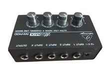 Behringer MICROMIX MX400 4 Channel Ultra Low Noise Line Mixer Black mit Netzteil