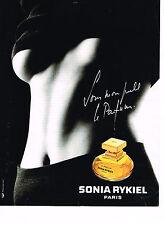 PUBLICITE ADVERTISING 064  1994  SONIA RYKIEL    parfum